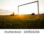 Football Gate At Sunset