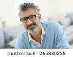 smiling mature man with grey... | Shutterstock . vector #265830338