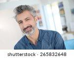 portrait of smiling mature... | Shutterstock . vector #265832648