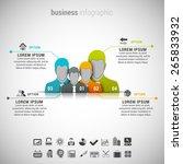 vector illustration of business ... | Shutterstock .eps vector #265833932
