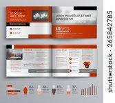 classic brochure template...   Shutterstock .eps vector #265842785