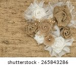 flower rose made of fabric on... | Shutterstock . vector #265843286