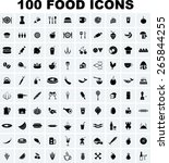 vector food icon set | Shutterstock .eps vector #265844255