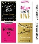set of four wedding invitations ... | Shutterstock .eps vector #265850558