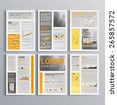 classic brochure template... | Shutterstock .eps vector #265857572