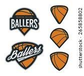 set of basketball team emblem... | Shutterstock .eps vector #265858802