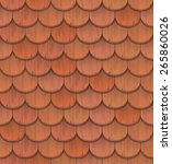 Red Clay Roof Tiles    Vector...