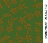 seamples flower illustration ... | Shutterstock .eps vector #265861712