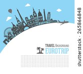 europe skyline detailed... | Shutterstock .eps vector #265866848