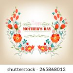 floral background mothers day... | Shutterstock .eps vector #265868012