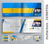 blue brochure template design... | Shutterstock .eps vector #265869506
