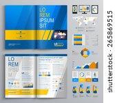 blue brochure template design...   Shutterstock .eps vector #265869515