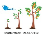 vector llustration of apple... | Shutterstock .eps vector #265870112