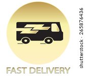 fast delivery traffic car icon    Shutterstock .eps vector #265876436