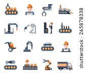 production line industrial... | Shutterstock .eps vector #265878338