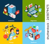 medical design concept set with ... | Shutterstock .eps vector #265879475