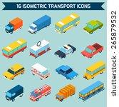 isometric public city transport ... | Shutterstock .eps vector #265879532