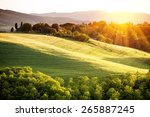landscape in tuscany | Shutterstock . vector #265887245