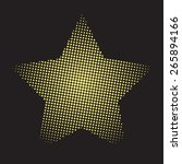halftone hold doted star | Shutterstock .eps vector #265894166