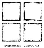 grunge frames   collection | Shutterstock .eps vector #265900715