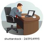 businessman is thinking under...   Shutterstock .eps vector #265914995