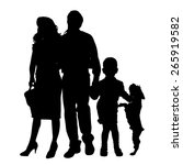 vector silhouette of a family... | Shutterstock .eps vector #265919582