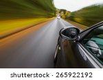 sport car driving fast. | Shutterstock . vector #265922192
