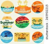 summer labels  labels  badges... | Shutterstock .eps vector #265932215