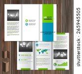 white brochure template design...   Shutterstock .eps vector #265945505