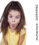 crazy little girl  studio on... | Shutterstock . vector #265945982