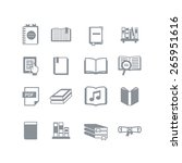 a set of book icons | Shutterstock .eps vector #265951616