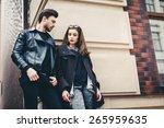 outdoor lifestyle portrait of... | Shutterstock . vector #265959635