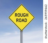 conceptual road sign warning of ... | Shutterstock . vector #265959662