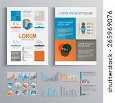 checkered brochure template... | Shutterstock .eps vector #265969076