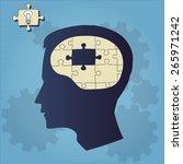 Stock vector brain puzzle 265971242
