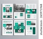 checkered green brochure... | Shutterstock .eps vector #265971968