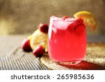 glass of freshness lemonade... | Shutterstock . vector #265985636