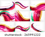 purple rainbow swirl background ... | Shutterstock . vector #265991222