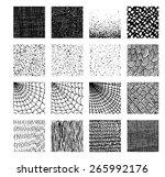 vector texture by ink pen.... | Shutterstock .eps vector #265992176