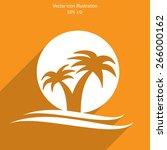vector travel flat icon... | Shutterstock .eps vector #266000162
