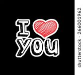 i love you  text with heart...   Shutterstock .eps vector #266001962