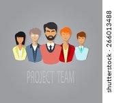 illustration of project team....   Shutterstock .eps vector #266013488