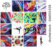 yoga background or spiritual...   Shutterstock . vector #266031428