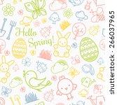 spring seamless pattern... | Shutterstock .eps vector #266037965
