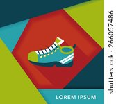 sneaker flat icon with long...