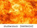 blaze fire flame texture... | Shutterstock . vector #266066162