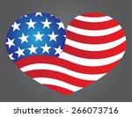 patriot heart | Shutterstock .eps vector #266073716