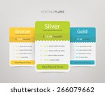 pricing plans  table for... | Shutterstock .eps vector #266079662