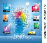 infographics human maze head... | Shutterstock .eps vector #266086472
