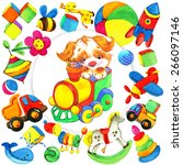 toy background for kid.... | Shutterstock . vector #266097146